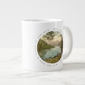 Lake in Kerry Ireland with Irish Blessing Large Coffee Mug