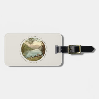 Lake in Kerry Ireland with Irish Blessing Tags For Bags