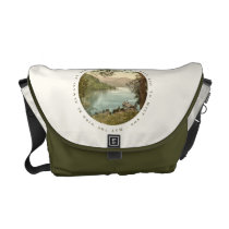 Lake in Kerry Ireland with Irish Blessing Courier Bag at Zazzle