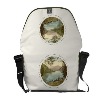 Lake in Kerry Ireland with Irish Blessing Courier Bag