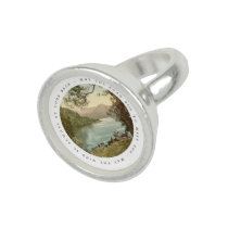 Lake in Kerry Ireland with Irish Blessing Photo Rings at Zazzle