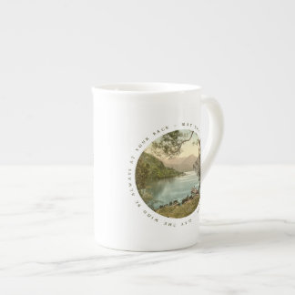 Lake in Kerry Ireland with Irish Blessing Tea Cup