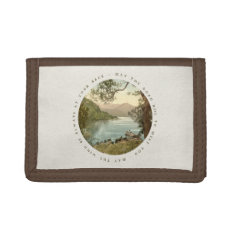 Lake In Kerry Ireland With Irish Blessing Tri-fold Wallets at Zazzle