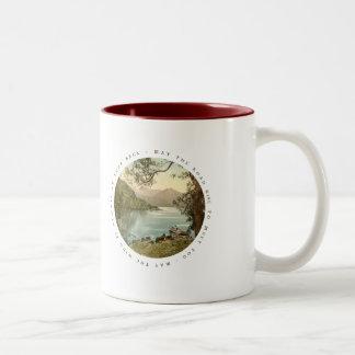 Lake in Kerry Ireland with Irish Blessing Two-Tone Coffee Mug