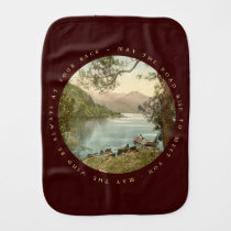 Lake in Kerry Ireland with Irish Blessing Burp Cloths at Zazzle