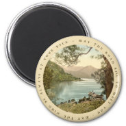 Lake in Kerry Ireland with Irish Proverb 2 Inch Round Magnet at Zazzle