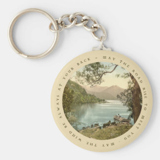 Lake in Kerry Ireland with Irish Proverb Keyring Keychains