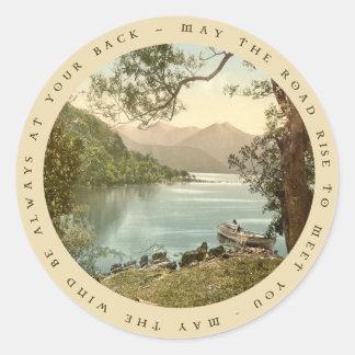 Lake in Kerry Ireland with Irish Proverb Sticker