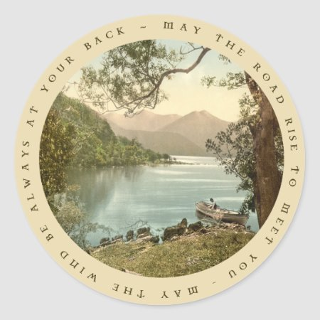 Lake In Kerry Ireland With Irish Proverb Sticker