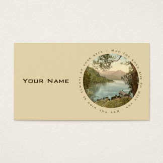 Lake in Kerry Ireland with Proverb Business Card
