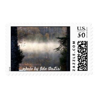 Lake in Mist Postage