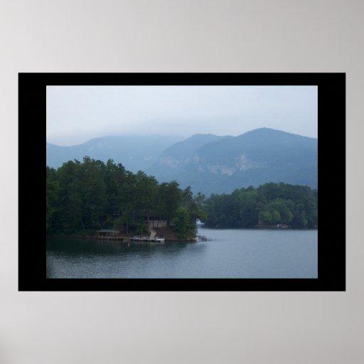 Lake in NC Mountains. Poster