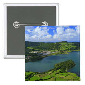 Lake in the Azores Button