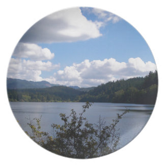 Lake In The City Melamine Plate