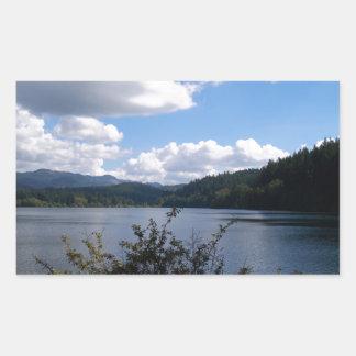 Lake In The City Rectangular Sticker