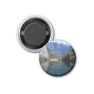"Lake "" in the mountains 1 inch round magnet"