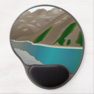 Lake in the mountains gel mouse pad