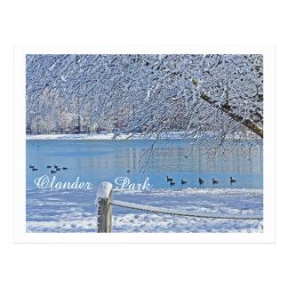 LAKE IN WINTER/OLANDER PARK, SYLVANIA, OH POSTCARD