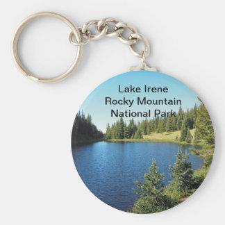 lake irene in Rocky Mountain National Park Keychain