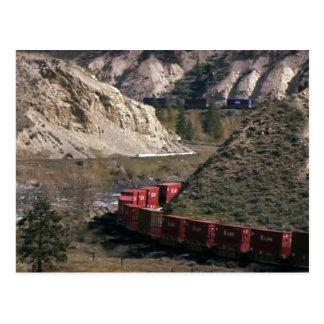 Lake Island Mountains Train Railway Rhode Poster Postcard