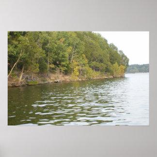 Lake Island Poster