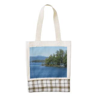Lake Island View Zazzle HEART Tote Bag