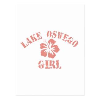 Lake Jackson Pink Girl Postcard