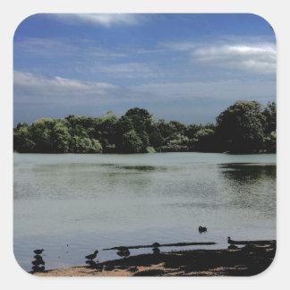 Lake.jpg Pegatina Cuadrada