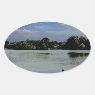Lake.jpg Pegatina Ovalada