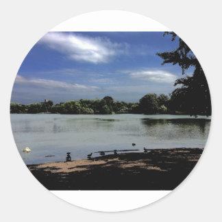 Lake.jpg Pegatina Redonda
