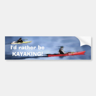 Lake Kayakers Bumper Sticker