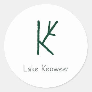 Lake Keowee Classic Round Sticker