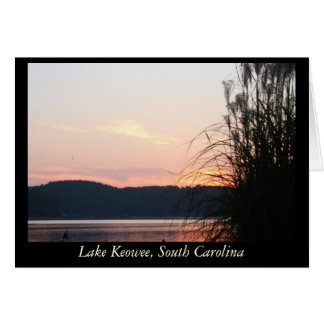 Lake Keowee Sunset Skyline Stationery Note Card