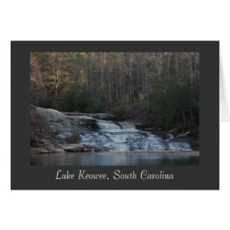 Lake Keowee Waterfall (Title) Stationery Note Card