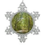Lake Kittamaquandi Trail in Columbia Maryland Snowflake Pewter Christmas Ornament