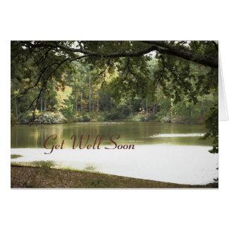 Lake Landscape, Get Well Soon Card