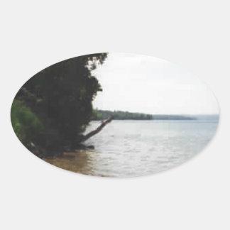 Lake Leelanau, MI Oval Sticker