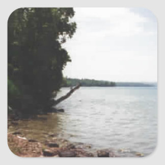 Lake Leelanau, MI Square Sticker