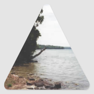 Lake Leelanau, MI Triangle Sticker