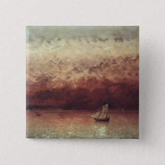 Lake Leman with Setting Sun, c.1876 Pinback Button