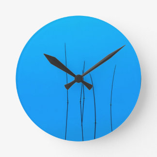 Lake Letts Reeds Mendocino Forest Wall Clock