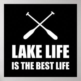 Lake Life Best Life Poster