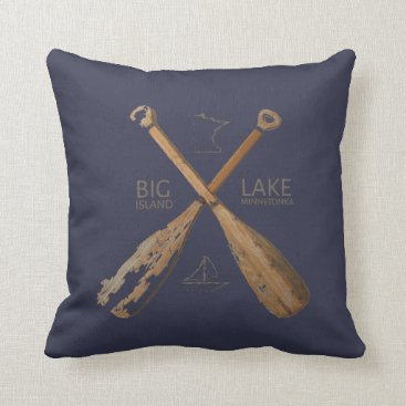 Pixel_Loon Lake-Life/Big-Island Reversible Pillow