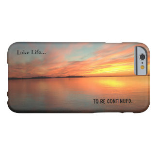 Lake life scenic picture sunset . apple iphone6 barely there iPhone 6 case