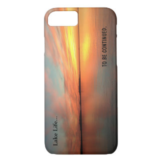 Lake life scenic picture sunset . apple iPhone 7 iPhone 8/7 Case