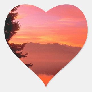 Lake Living Waters Hood Canal Heart Sticker