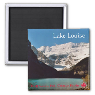 Lake Louise 2 Inch Square Magnet