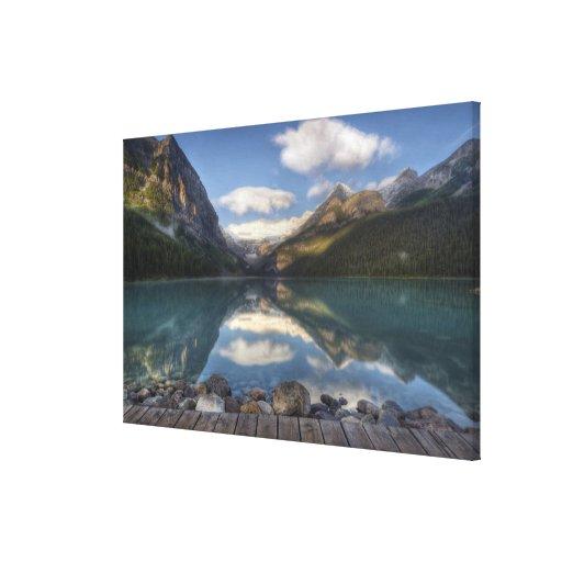 Lake Louise at sunrise, Banff National Park, Canvas Print