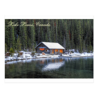 Lake Louise_Boat house_Post Card Post Card