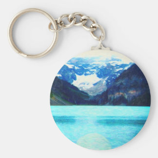 Lake Louise Canadian Rockies art Keychain
